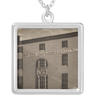 Third Street in Philadelphia Silver Plated Necklace