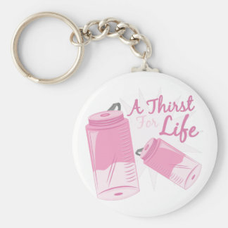 Thirst For Life Basic Round Button Key Ring