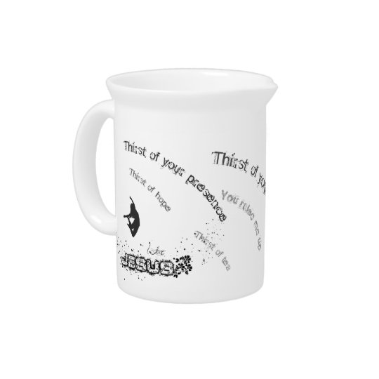 Thirst of hope beverage pitcher