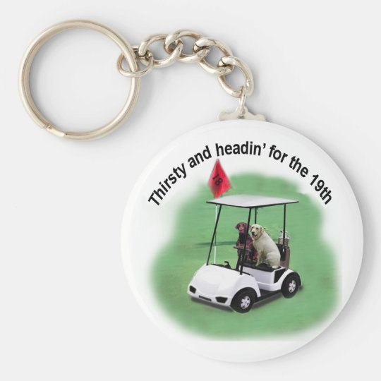 Thirsty Labs Basic Round Button Key Ring