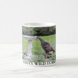 THIRSTY WILD TURKEY COFFEE MUG