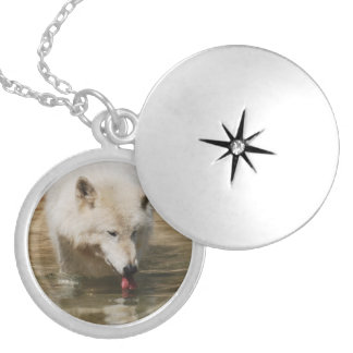 Thirsty Wolf Locket Necklace