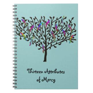 Thirteen Attributes of Mercy Journals Spiral Notebook
