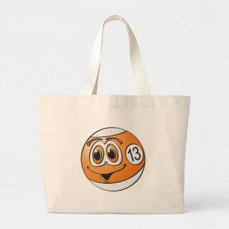 Thirteen Pool Ball Cartoon Jumbo Tote Bag
