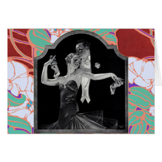 Thirties Dancing Deco Card