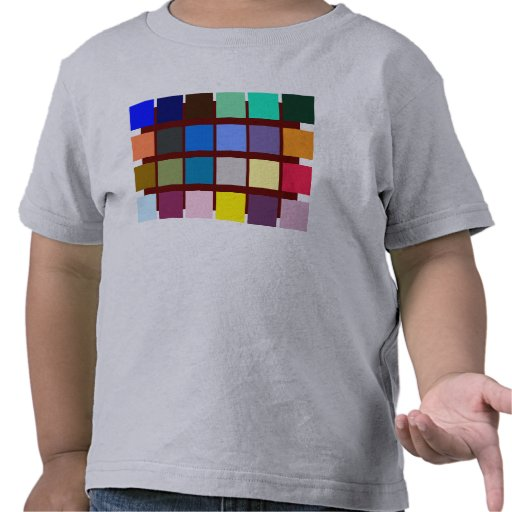 Thirty-eight different color blocks with to play tee shirt