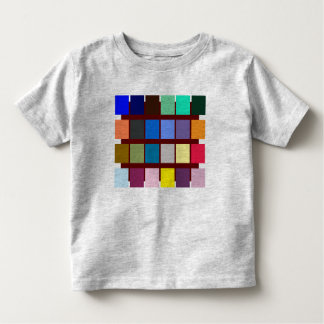 Thirty-eight different color blocks with to play t shirt