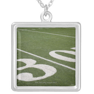 Thirty yard line silver plated necklace
