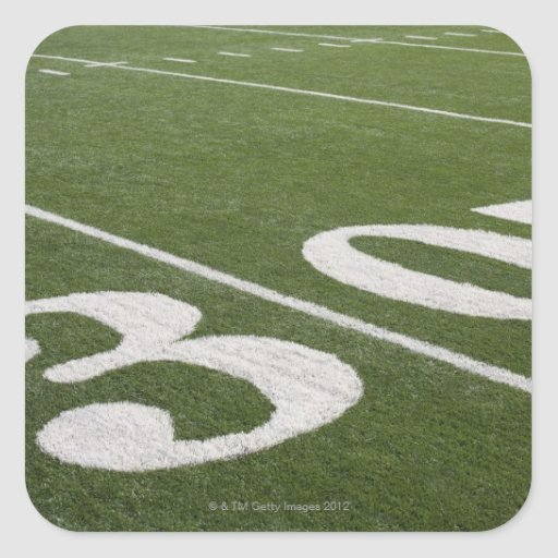 Thirty yard line square stickers