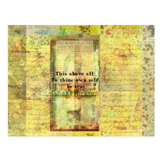 This above all To thine own self be true Postcard