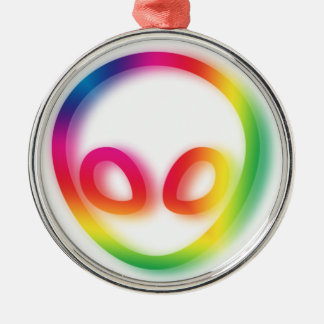 This Alien isn't Gray - its Hip ! Christmas Ornament