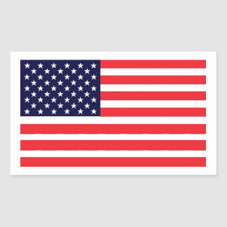 This American Flag Rectangular Sticker