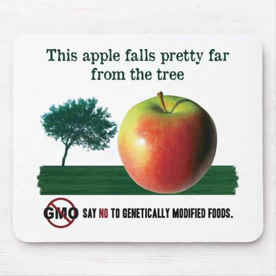 This apple falls pretty far from the tree. NO GMO Mouse Mat