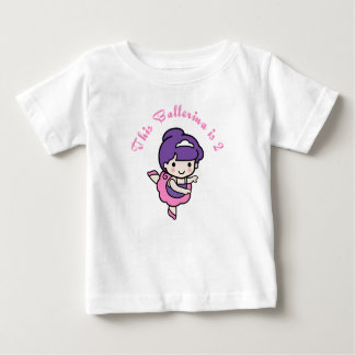 This Ballerina is 2 Years Old T-shirts