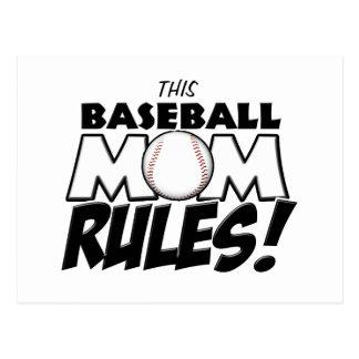 This Baseball Mom Rules copy.png Postcard