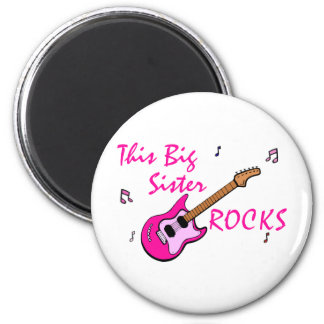 This Big Sister Rocks 6 Cm Round Magnet