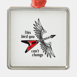 THIS BIRD YOU CANT CHANGE Silver-Colored SQUARE DECORATION