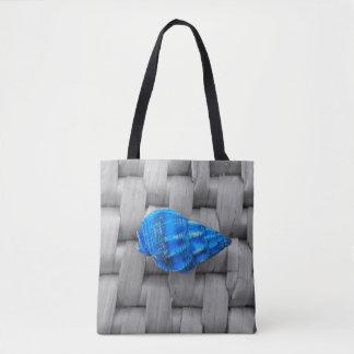 This Blue Sea Shell Tote Bag