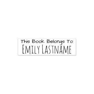 This Book Belongs To - Custom Name - for Kids Self-inking Stamp