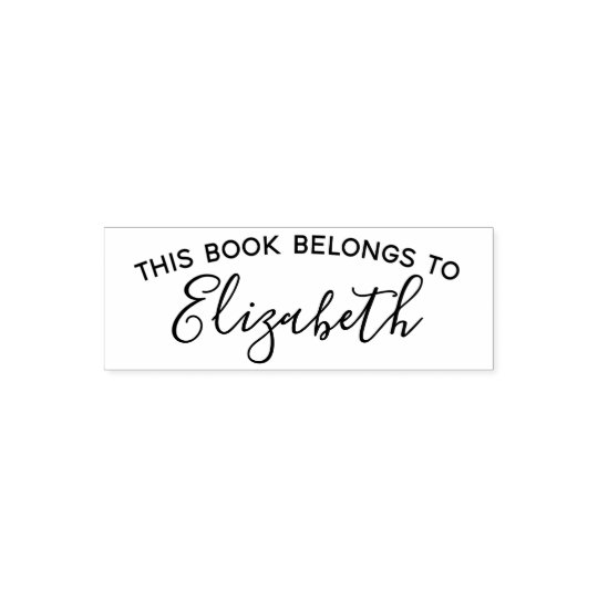 This Book Belongs To - Custom Name -