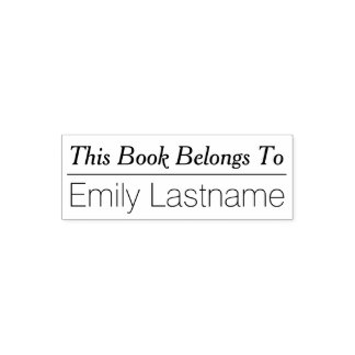 This Book Belongs To - Custom Name with line Self-inking Stamp