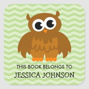 This book belongs to cute owl bookplate stickers