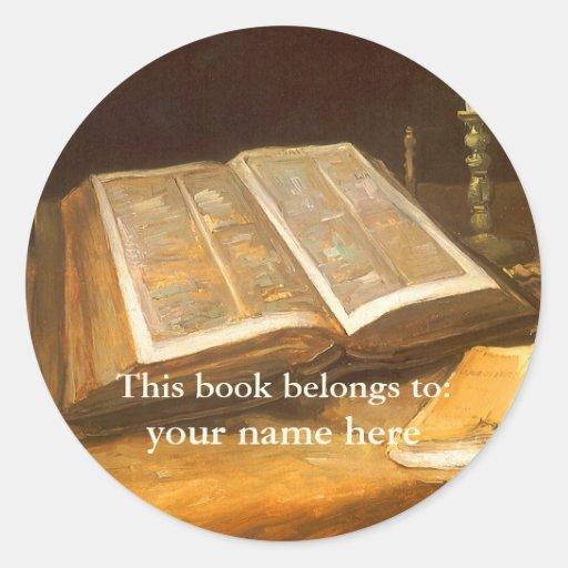 This Book Belongs To ... Fine Art Bookplates Sticker