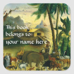 This Book Belongs To ... Fine Art Bookplates Square Sticker
