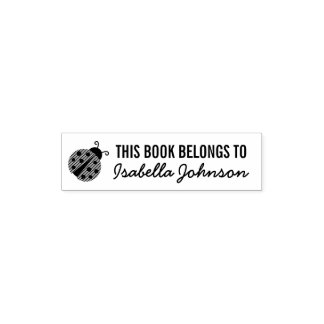 THIS BOOK BELONGS TO kids self inking stamp