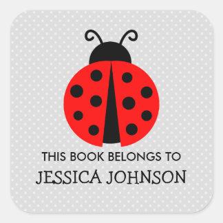 This book belongs to ladybird bookplate stickers