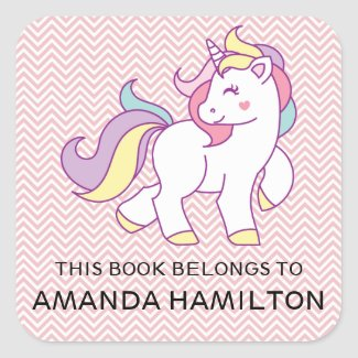 Unicorn this book belongs to stickers