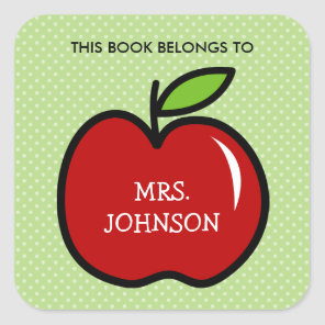 This book belongs to red apple bookplate stickers