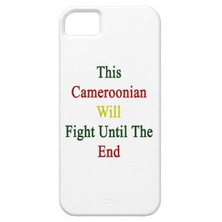 This Cameroonian Will Fight Until The End iPhone 5 Cover
