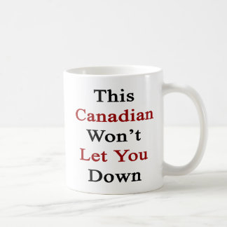 This Canadian Won t Let you Down Mug