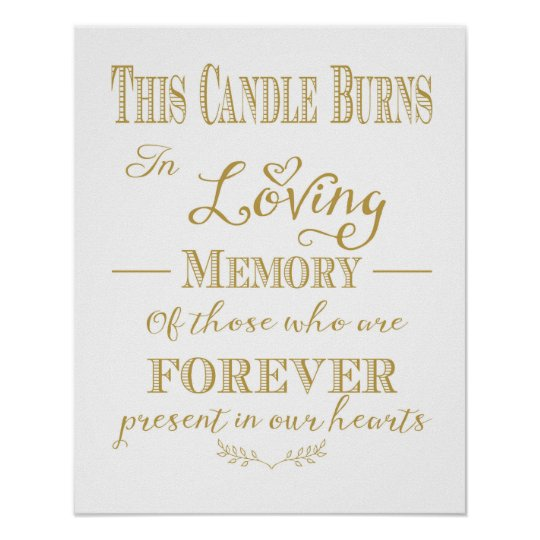 graphic regarding In Loving Memory Free Printable titled This Candle Burns Within Loving Memory Print
