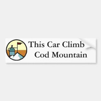 This Car ClimbedCod Mountain Bumper Sticker