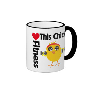 This Chick Loves Fitness Mugs