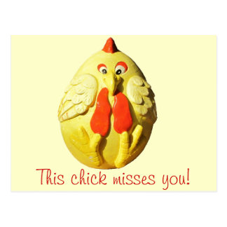 This Chick Misses You Postcard