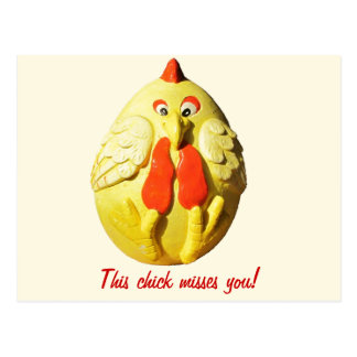 This Chick Misses You (small font) Postcard