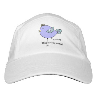 This Chick Runs Women Runners Fun cartoon bird Hat