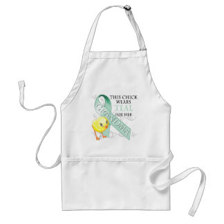 This Chick Wears Teal for her Grandma Standard Apron