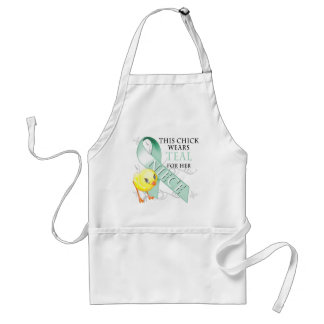 This Chick Wears Teal for her Niece Standard Apron