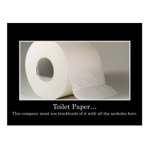 This company must use a lot of toilet paper post card