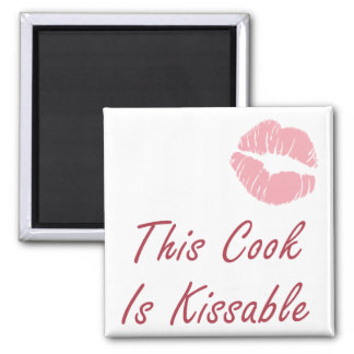This Cook is Kissable Square Magnet
