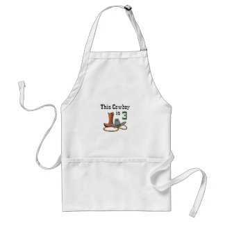 THIS COWBOY IS THREE ADULT APRON