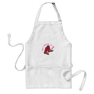 THIS COWGIRL IS THREE ADULT APRON