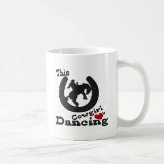 This cowgirl loves dancing. coffee mug