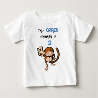 This Crazy Monkey is 2 Baby T-Shirt