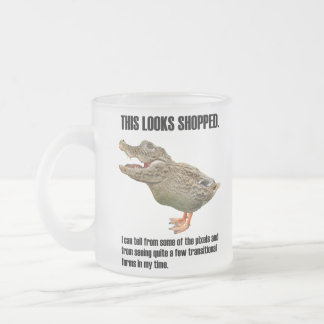This Crocoduck Looks Shopped Frosted Glass Coffee Mug