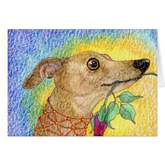 This dog aimed to please... greeting card